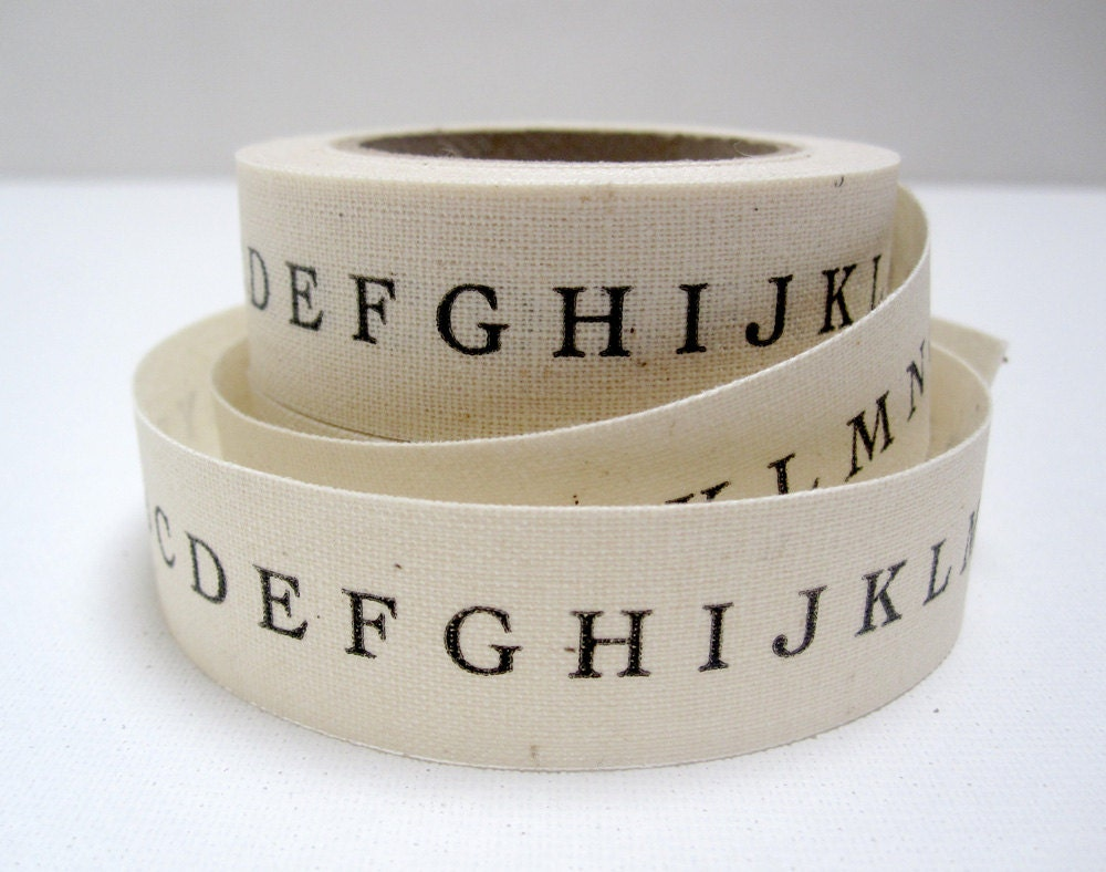 printed alphabet ribbon - pilosale