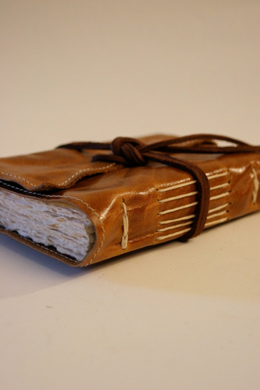 Light Brown Old Fashion Leather Journal by Binding by bindingbee