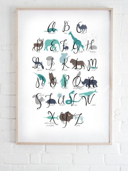 Плакат с алфавитом в детскую