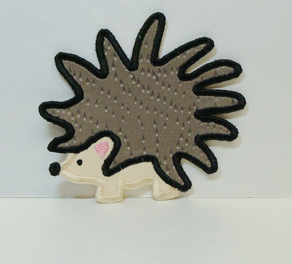 Hedgehog Patch Embroidered DIY Clothing Applique Sew on-100220