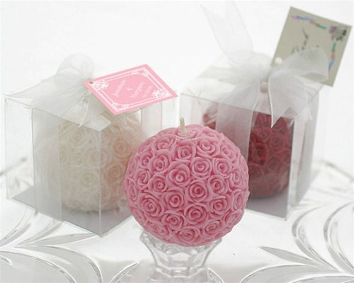 Pink Rose Ball - OlemLightCandles
