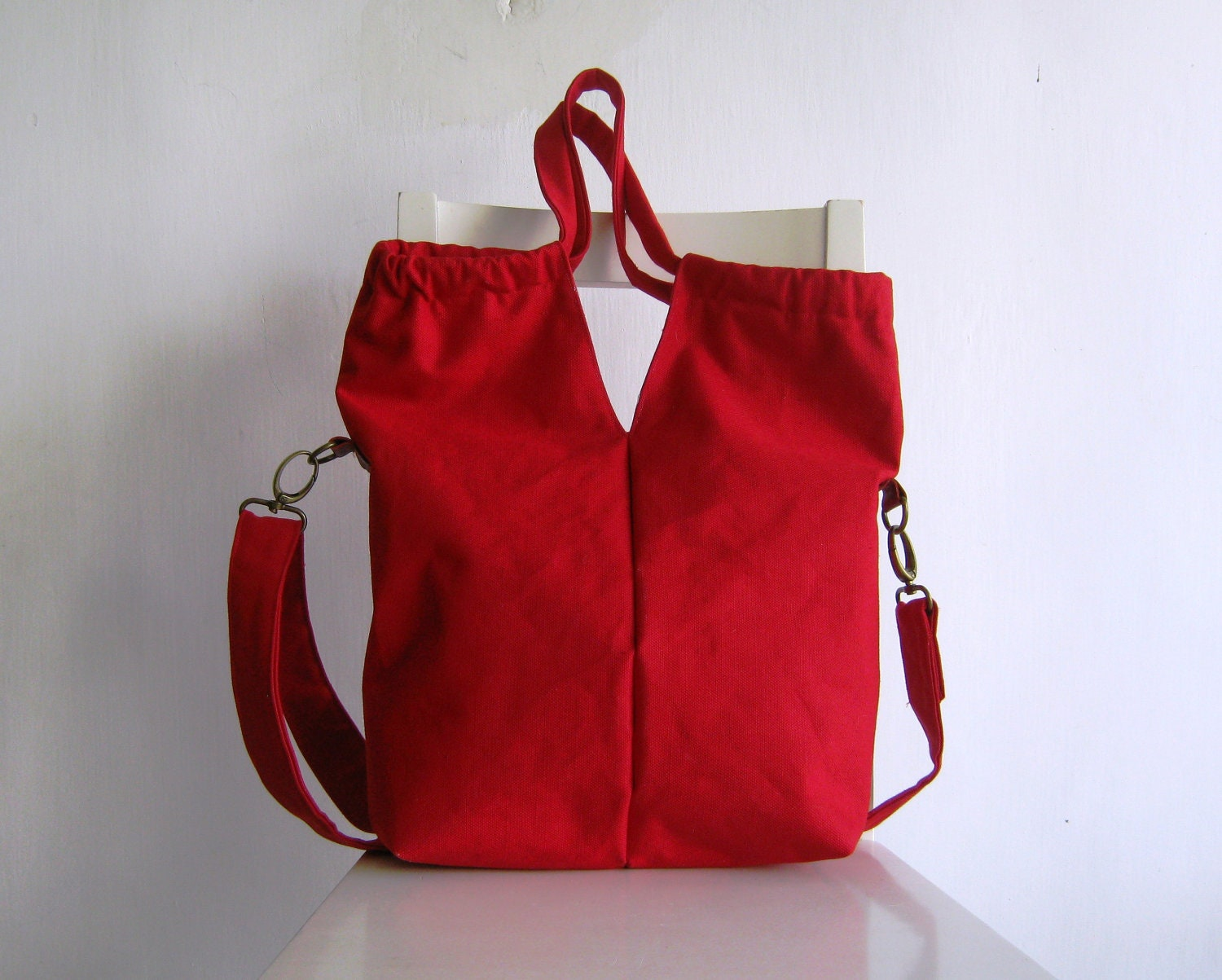 Red Tote/ Messenger - rutinet