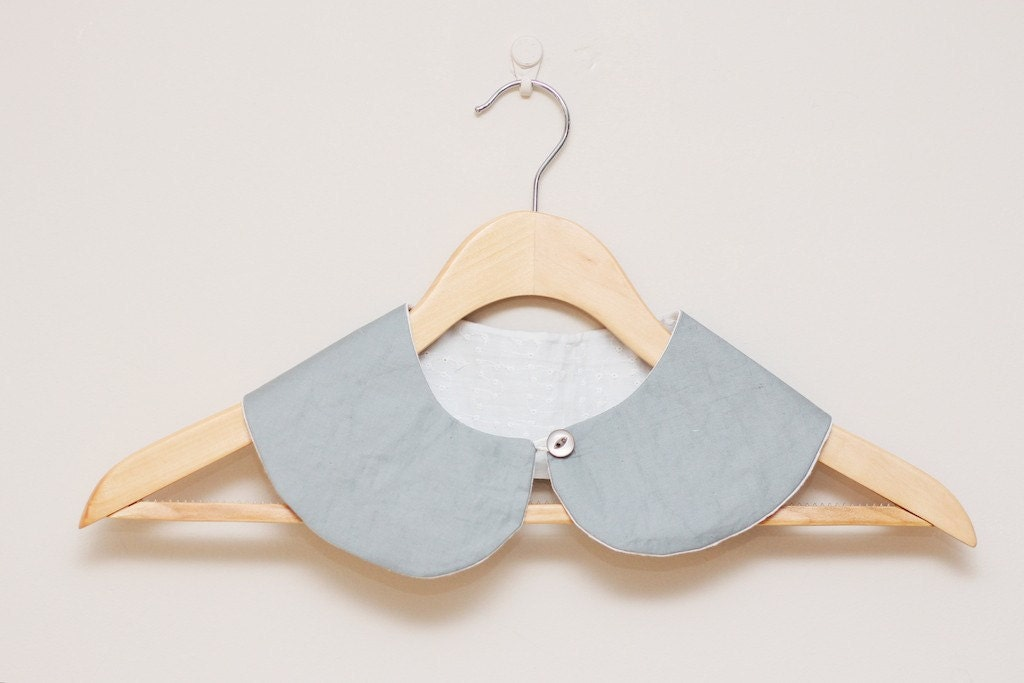 Peter Pan Collar  - Detachable Peter Pan Faux Collar in grey/gray - LumiStyle