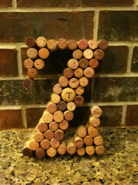 Wine Cork Decor Letters - Letters A-Z - ZVineWine