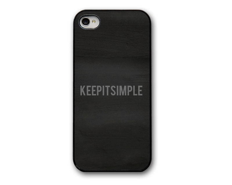Black Minimalist Typography Quote iPhone 4/4S or 5 Case, iPhone Cover,  Dark Iphone4/4S Case, iPhone 5 Case,
