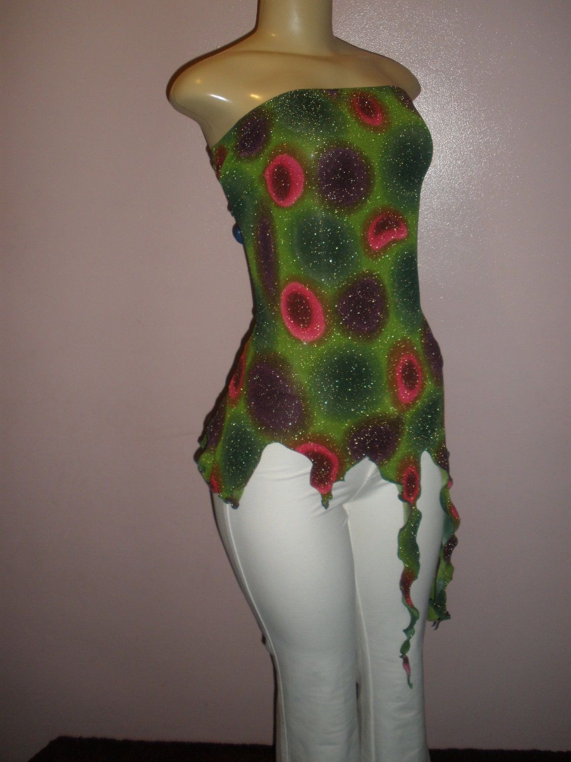 Attractive Sparkling Multiple Color Handcrafted Halter Top Fits Size: Mediun and Large This is the Last One Ladies