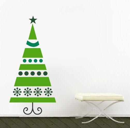 Wall Art Sticker - Christmas Tree - Vinyl Wall Decal