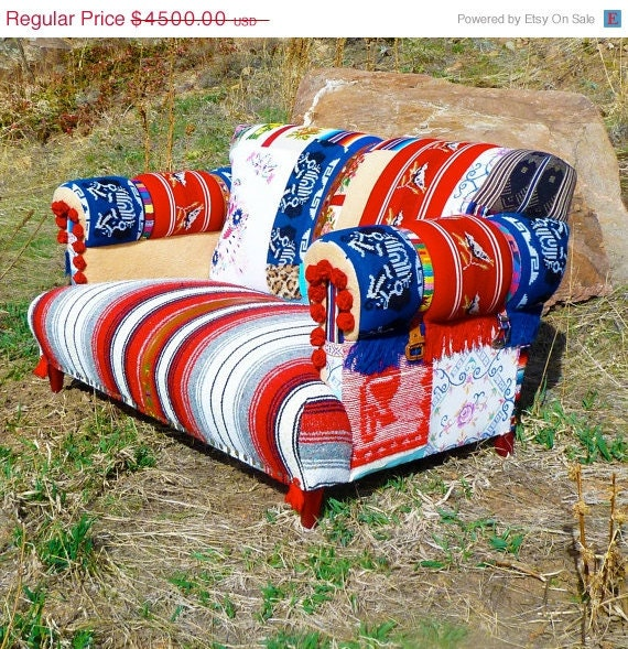 Rockabilly Retro Loveseat