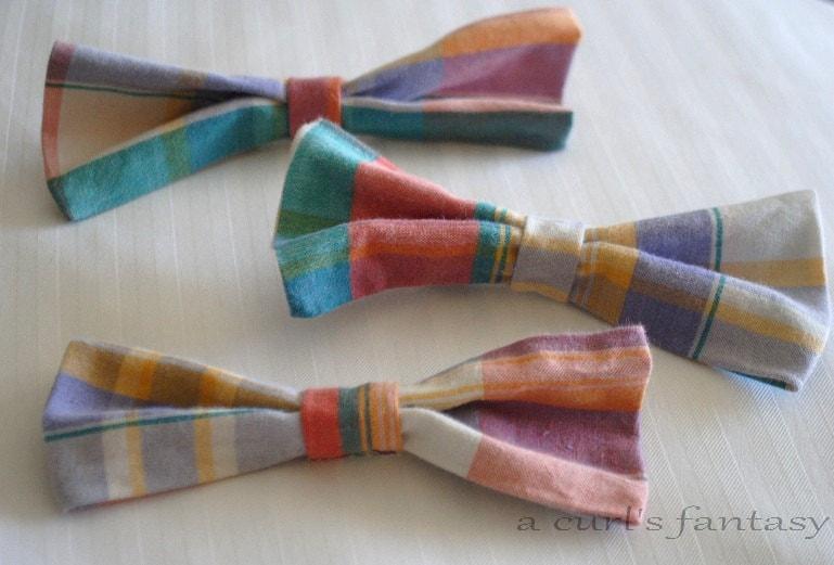 Large Multi-Colored Plaid Hair Bow - Rainbow Plaid