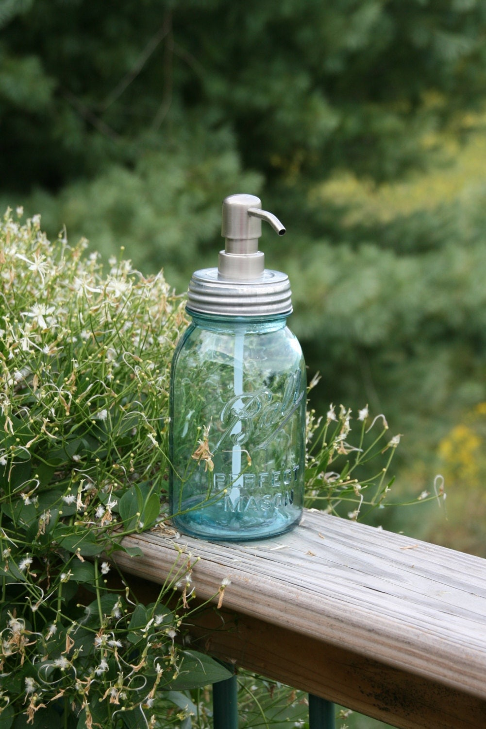 vintage blue ball jar from the 1930s