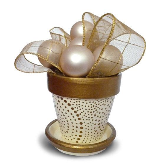 Winter White Gold Cream Ivory Elegant Handmade Wedding Hand Made