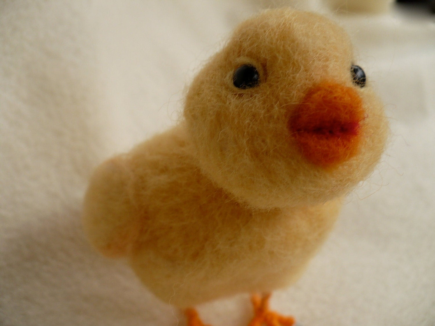 Needle felted Collectible Chick, Chicken, OOAK, - grannancan