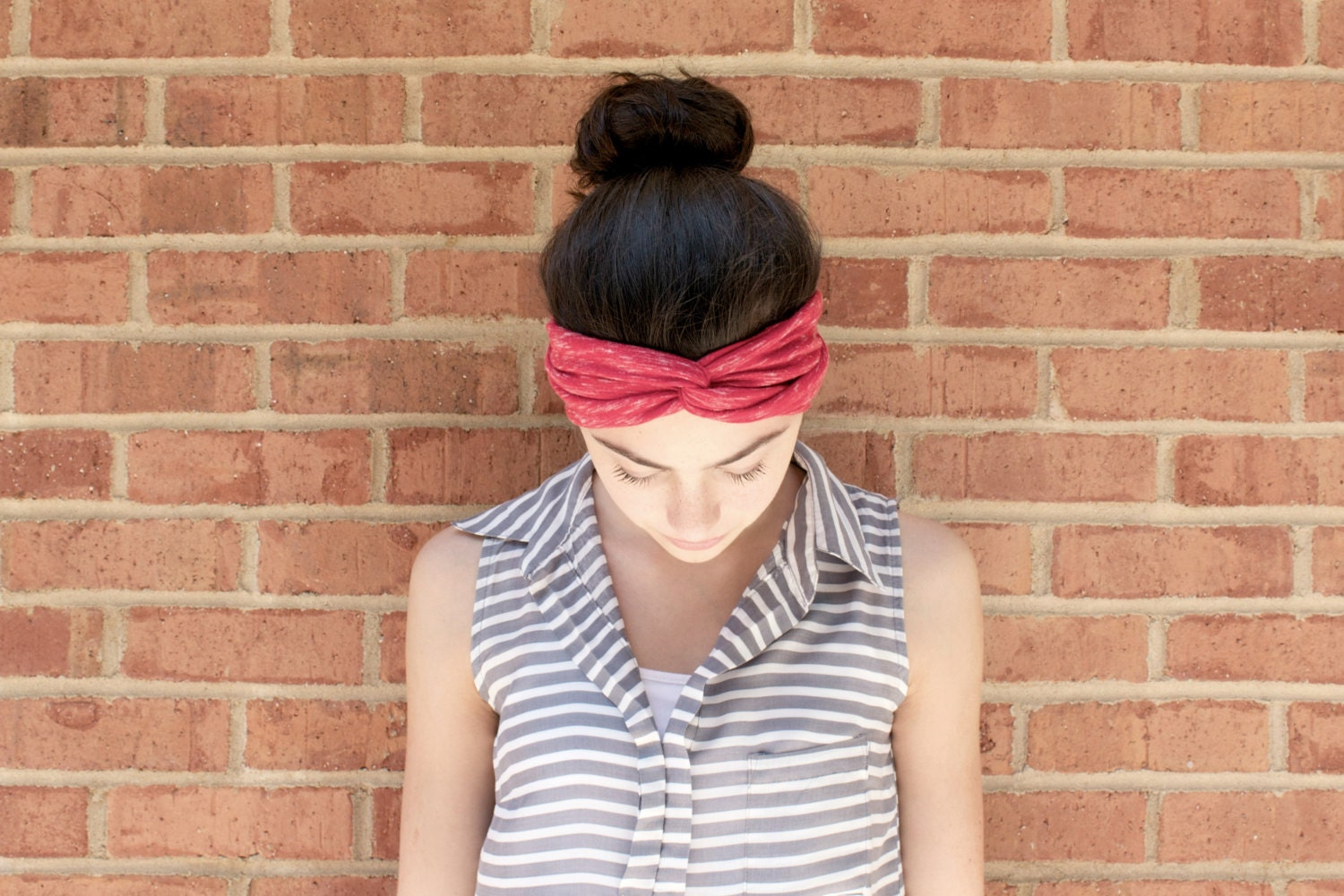 Red Turban Headband for Women/Bohemian Accessory