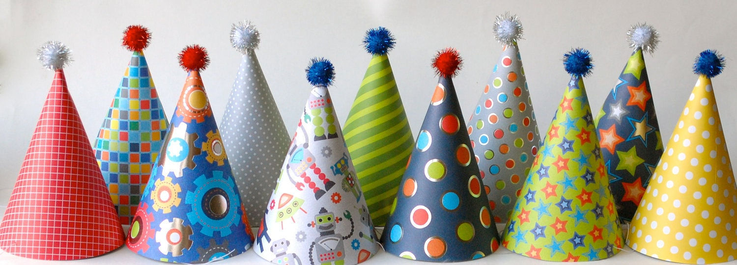 custom party hats--ROBOTS--reserved for
