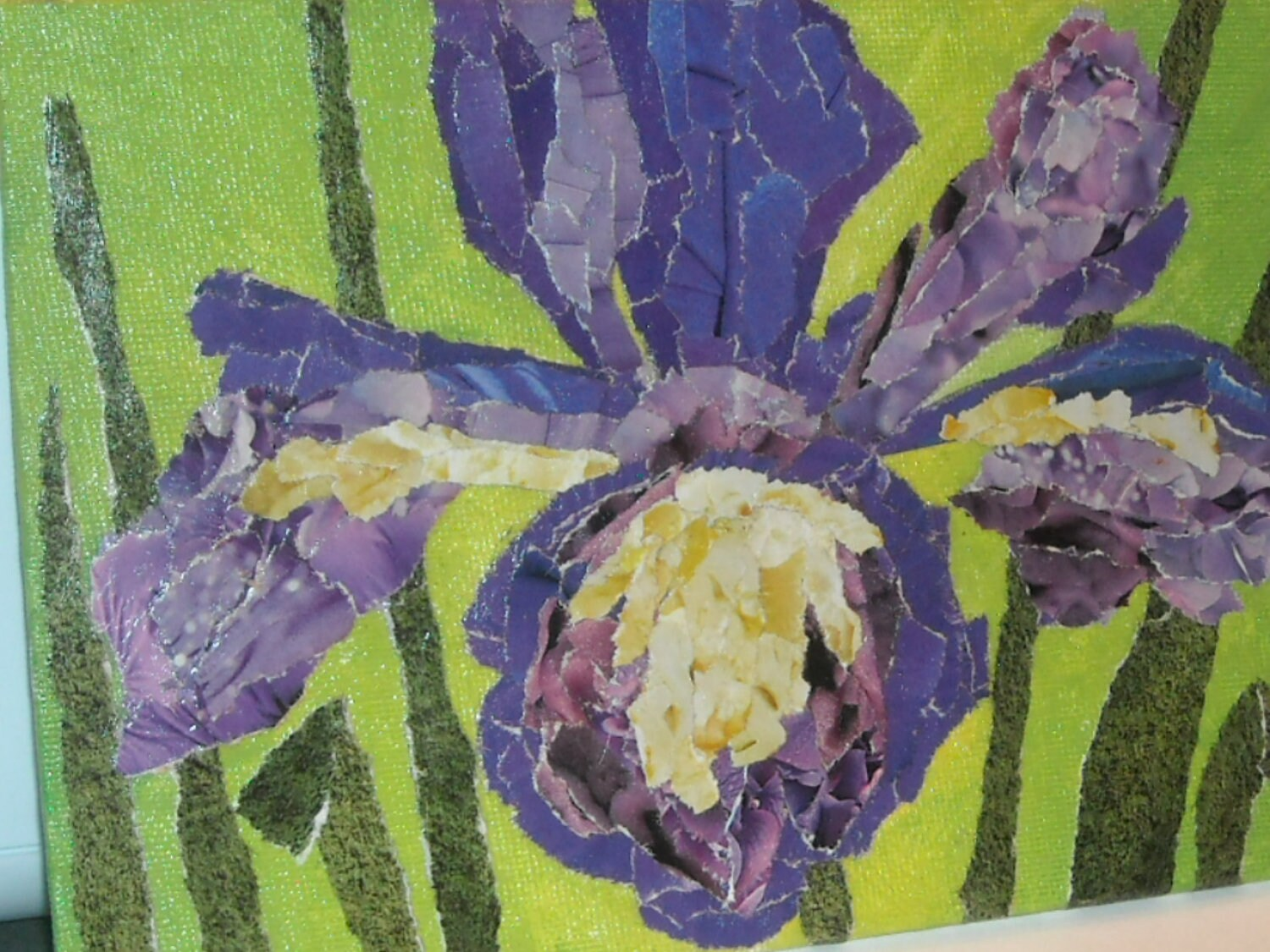 "Iris - 5"" X 7"" Recycled Art - StarryNightTreasures"