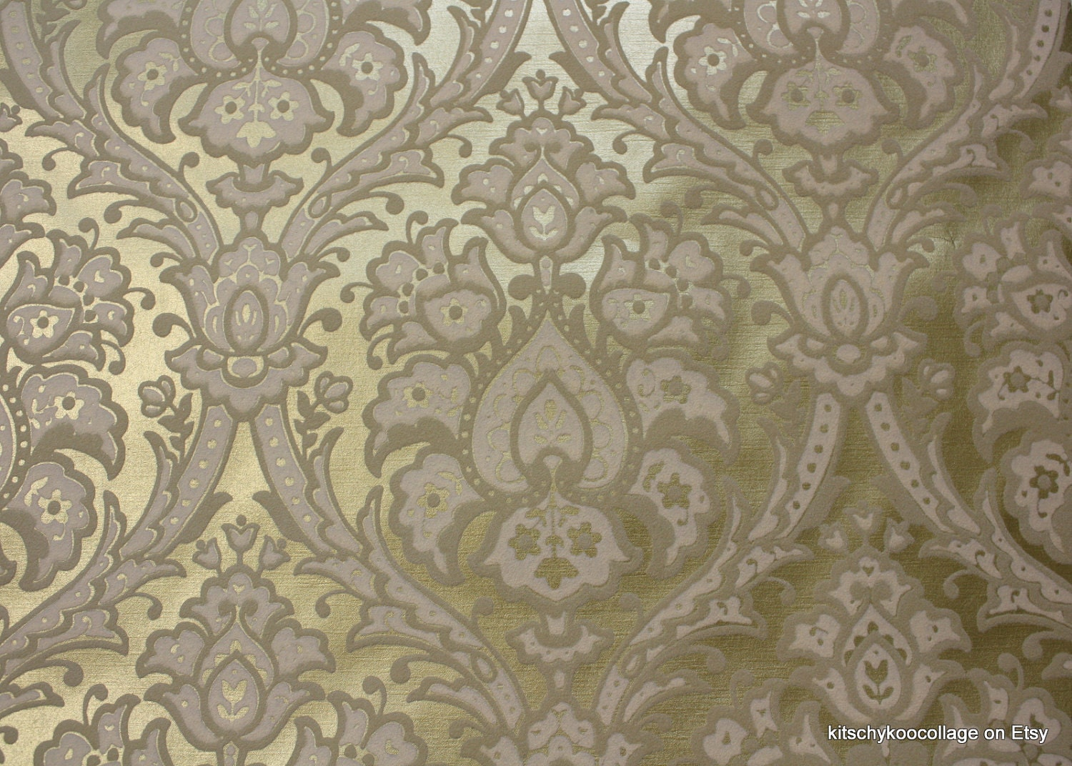 metallic flocked wallpaper
