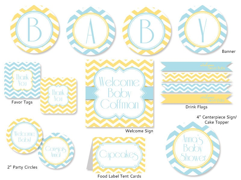 Printable decorations for baby shower images for Baby shower decoration templates