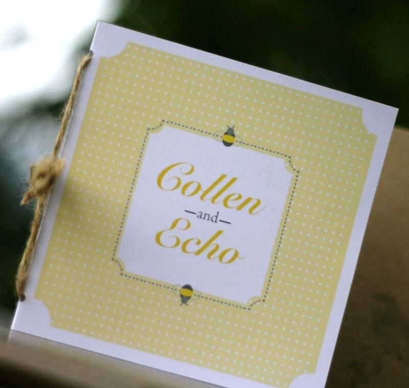 Storybook Wedding Invitation or Program Deposit From heidiandgray
