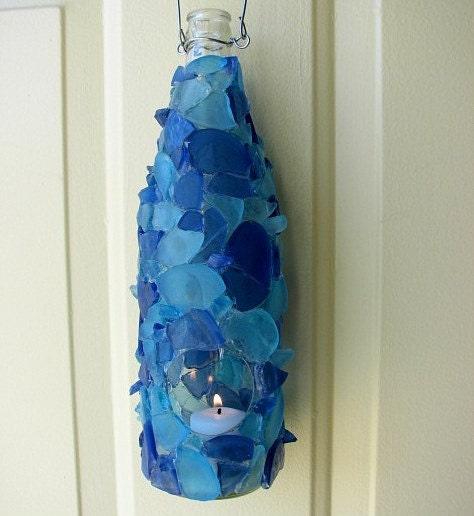 Пляж Декор моря стекло светило бутылки в выборе цвета пляжа стекла