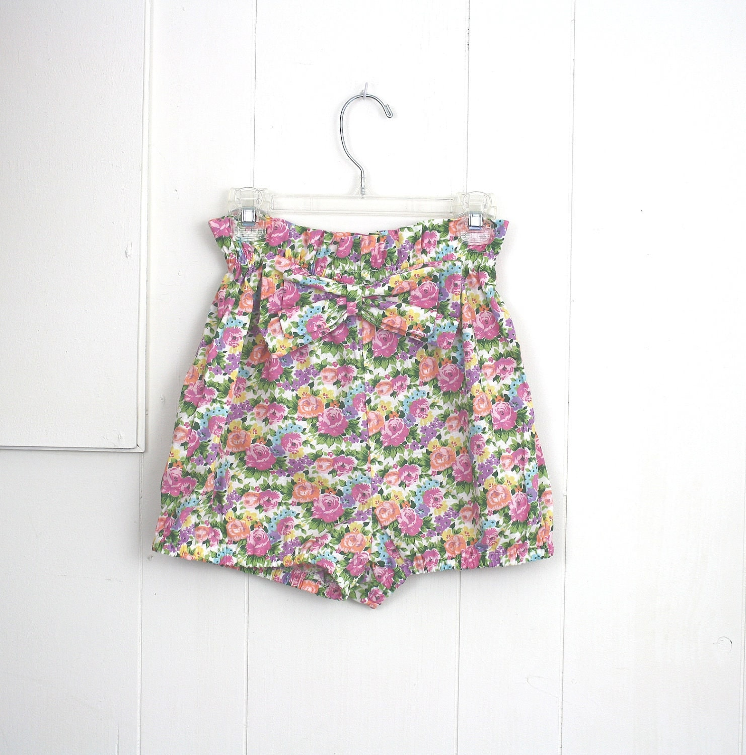 Bloomer Shorts Floral Cotton Summer Beach 50's Inspired xs s - daileedose