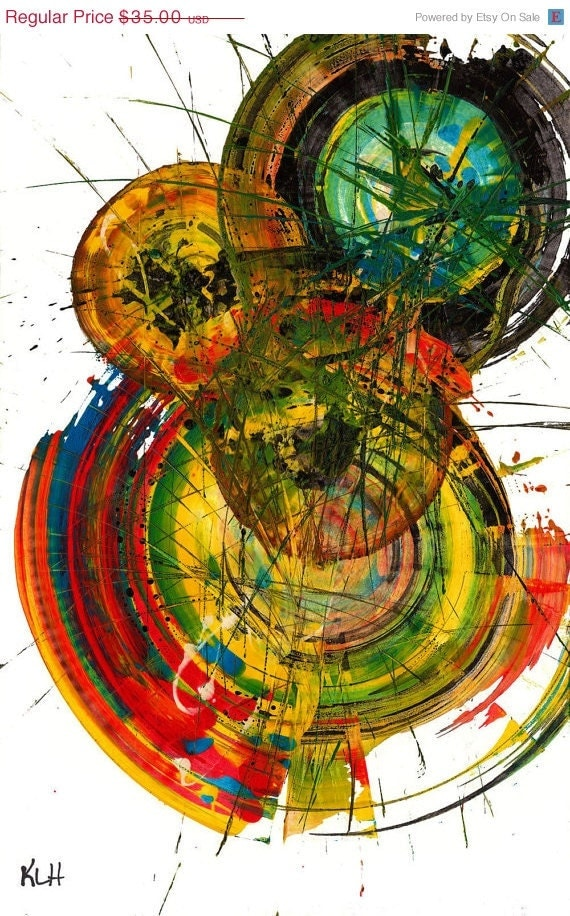 30% OFF Birthday Sale - Original ABStract Spherical ---- A.W.A.K.E.N.ing --  By tHe MOdernist Artist 50.042211