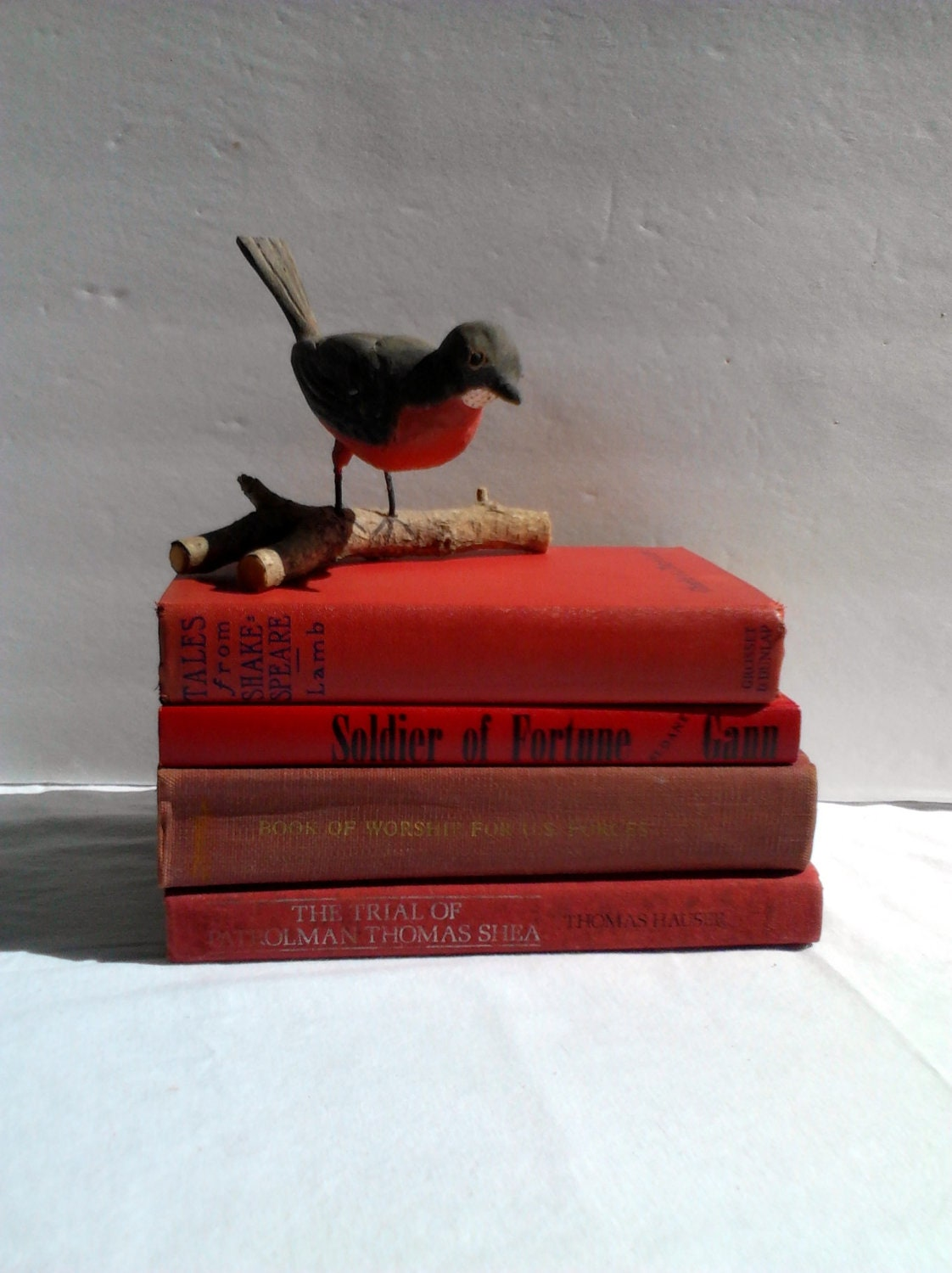 Vintage Red Book Collection Library Shakespeare/ Book of Worship / Soldier of Fortune - WeeLambieVintage