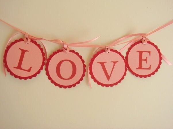 Love Hanging Banner for Bridal Shower Engagement Party Wedding Reception