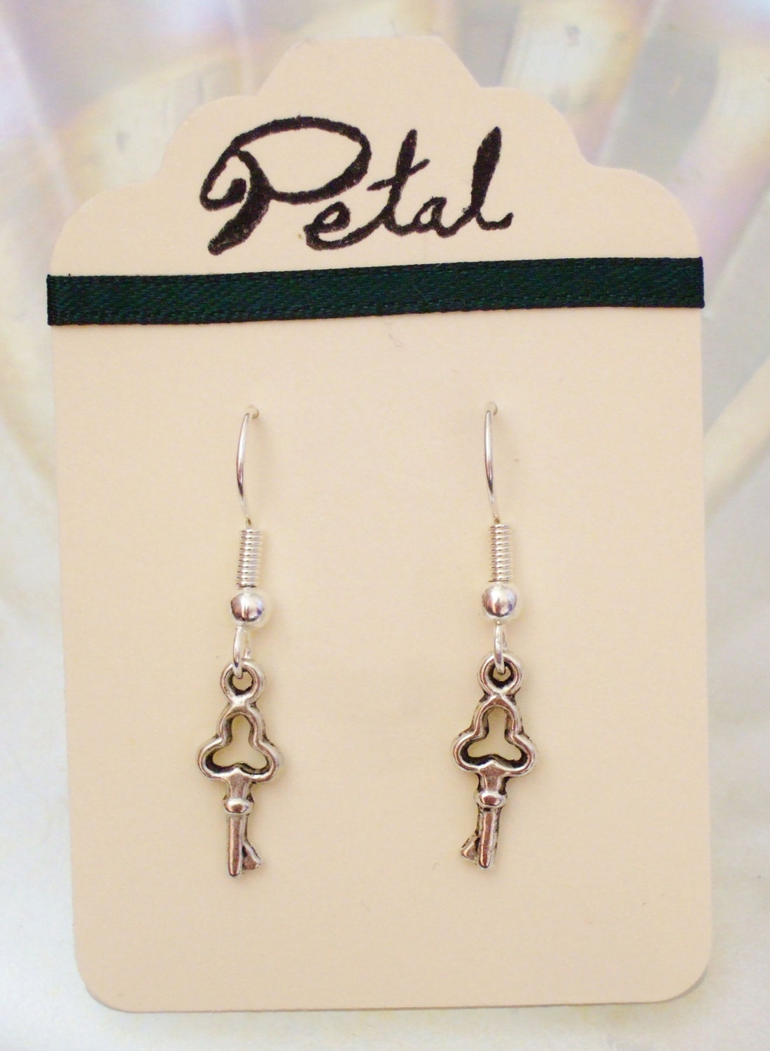 The Golden Key silver earrings (PFC10S)