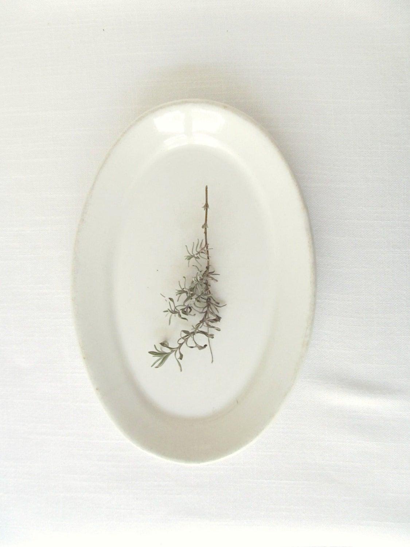 White Vintage Ironstone Platter - allthingswhite