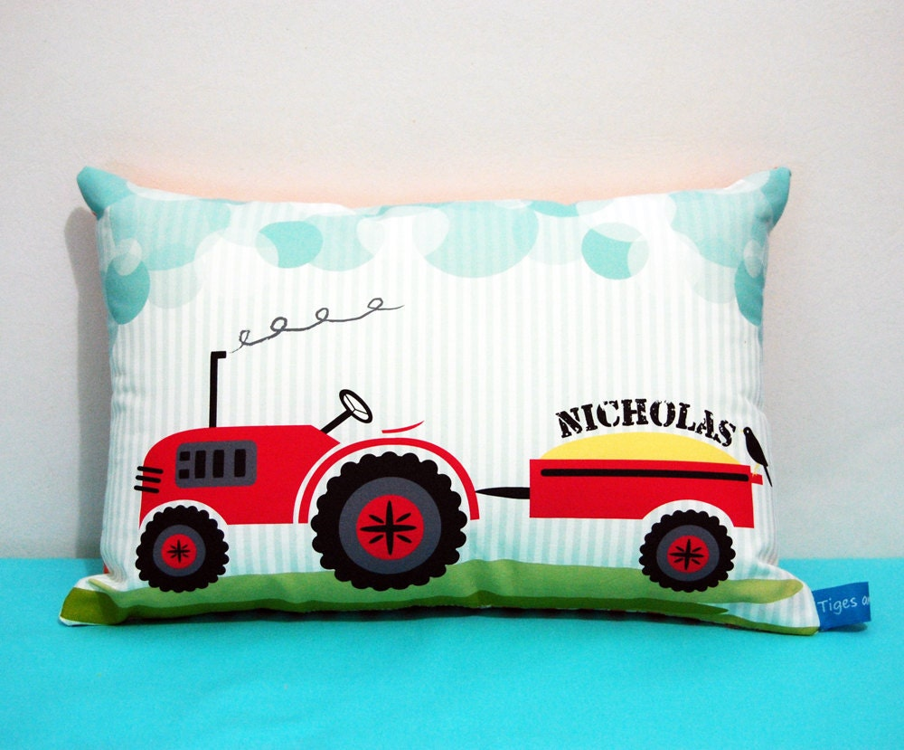 Tractor Personalised Decorative Cushion