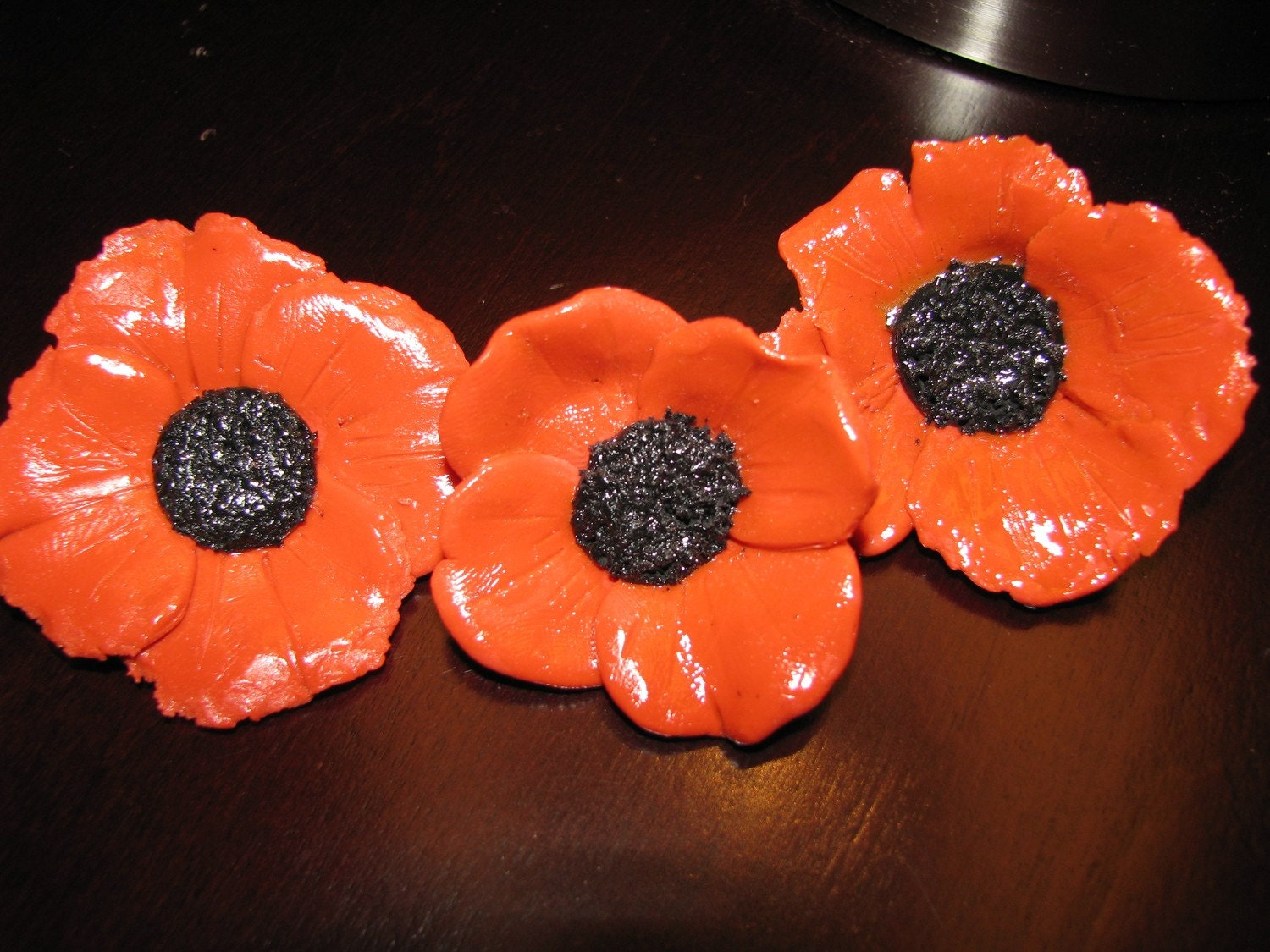 Rememberence Day Handmade Poppy Brooch