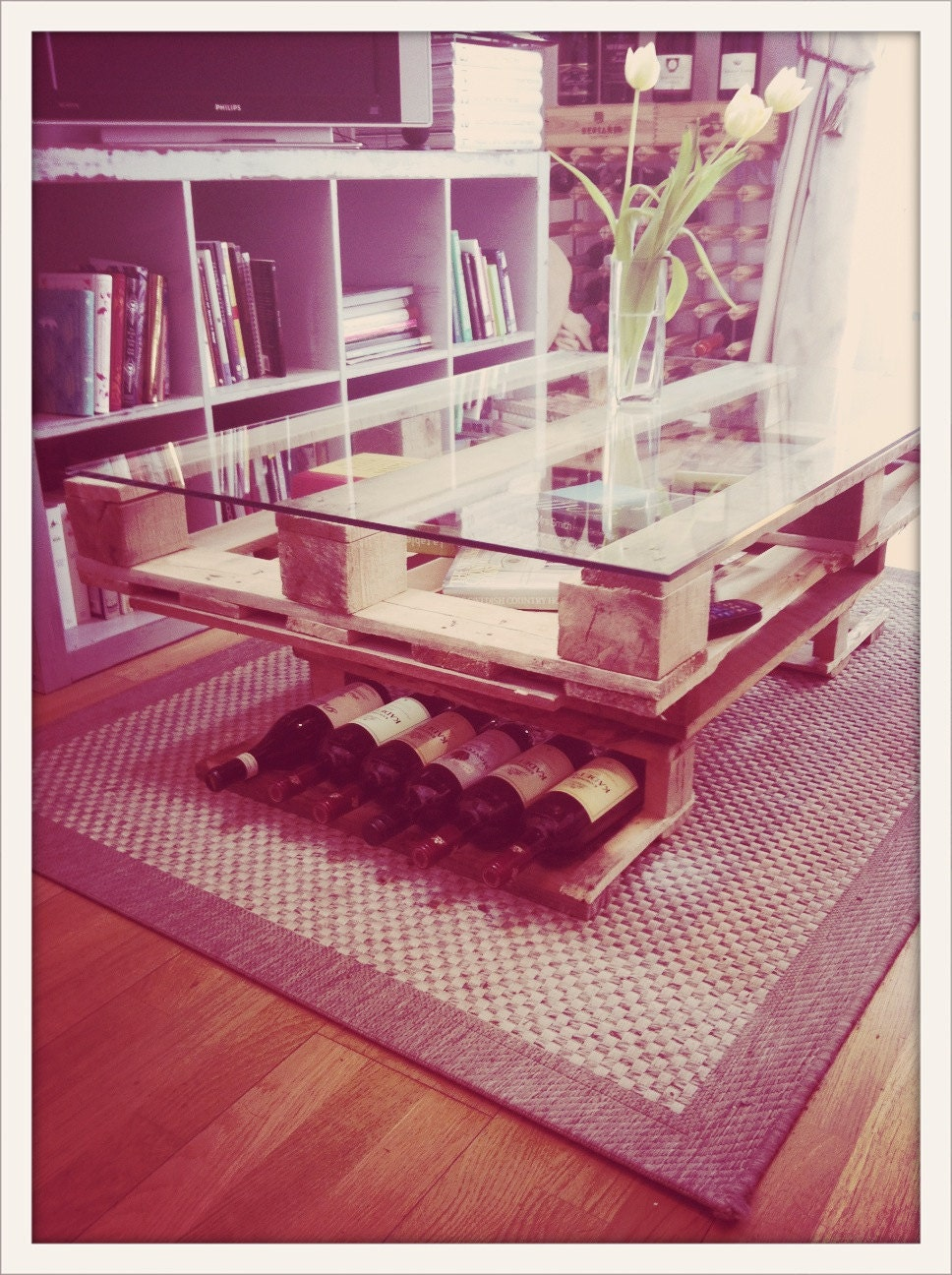 Pallet rústica mesa de centro