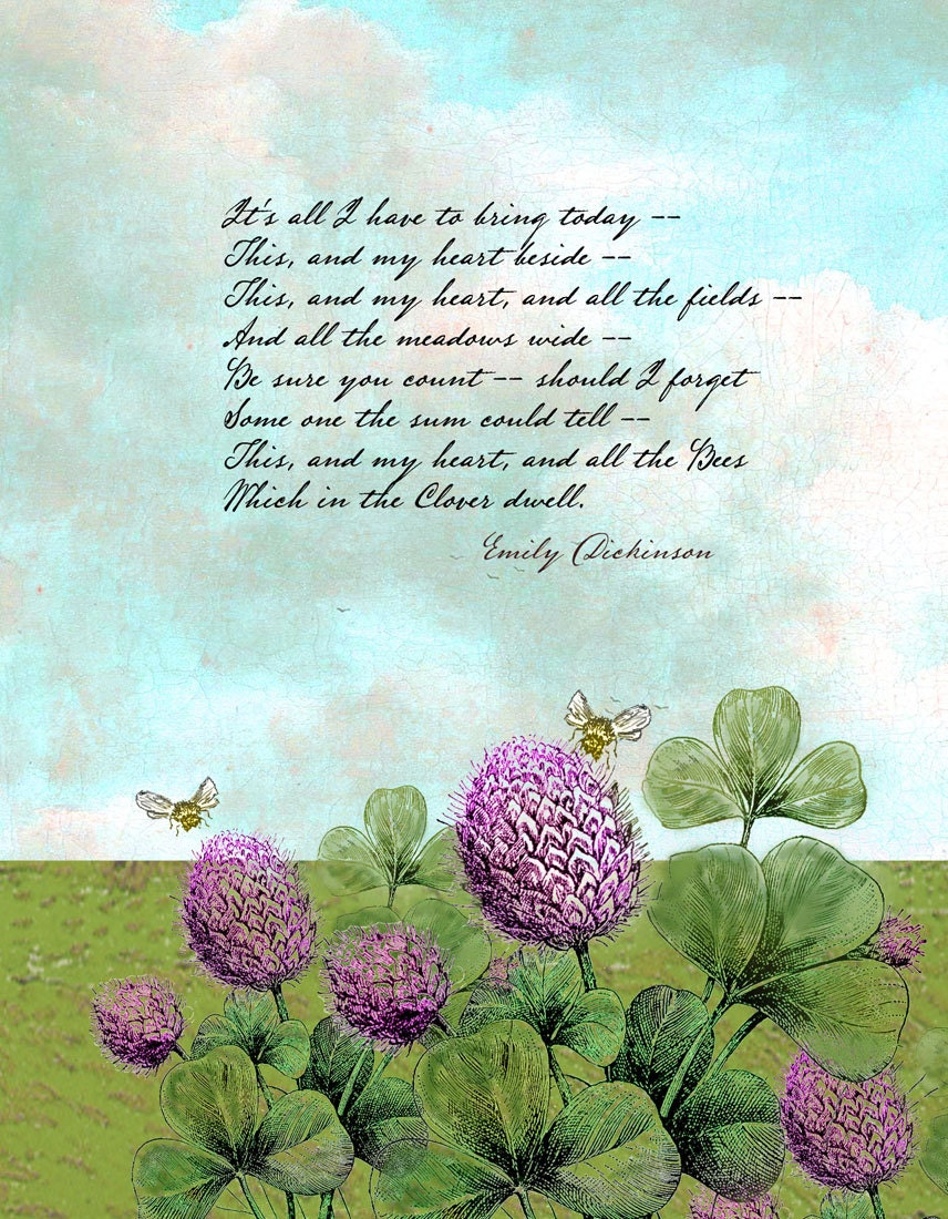 Emily Dickinson - It's All I Have to Bring - Single 5x7 Card - TurtleDoves
