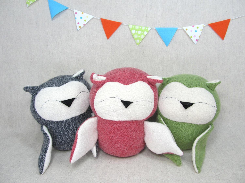 Owl, Handmade, Stuffed Animal, Toy, Children, Plush