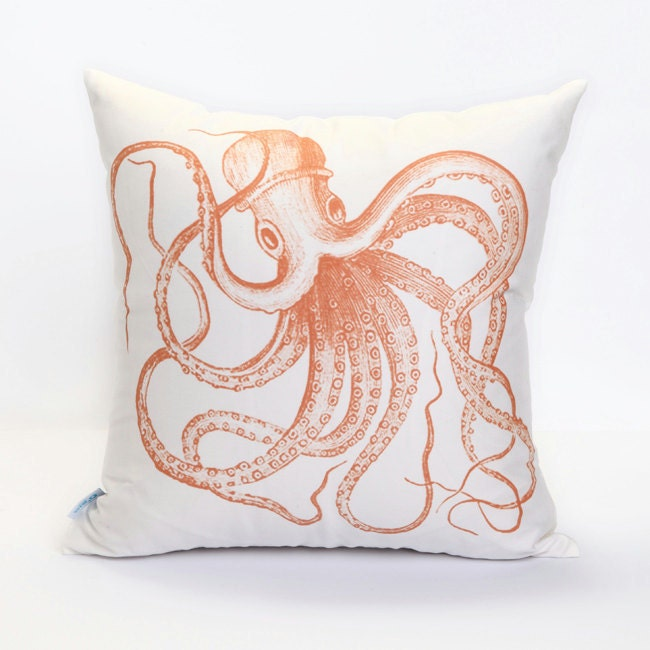 Octopus Ocean pattern cotton white decorative pillow cover pillow case cushion cover simple modern