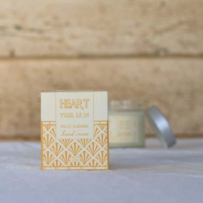 Hello Sunshine Gold Natural Hand Cream - HeartyourSkin