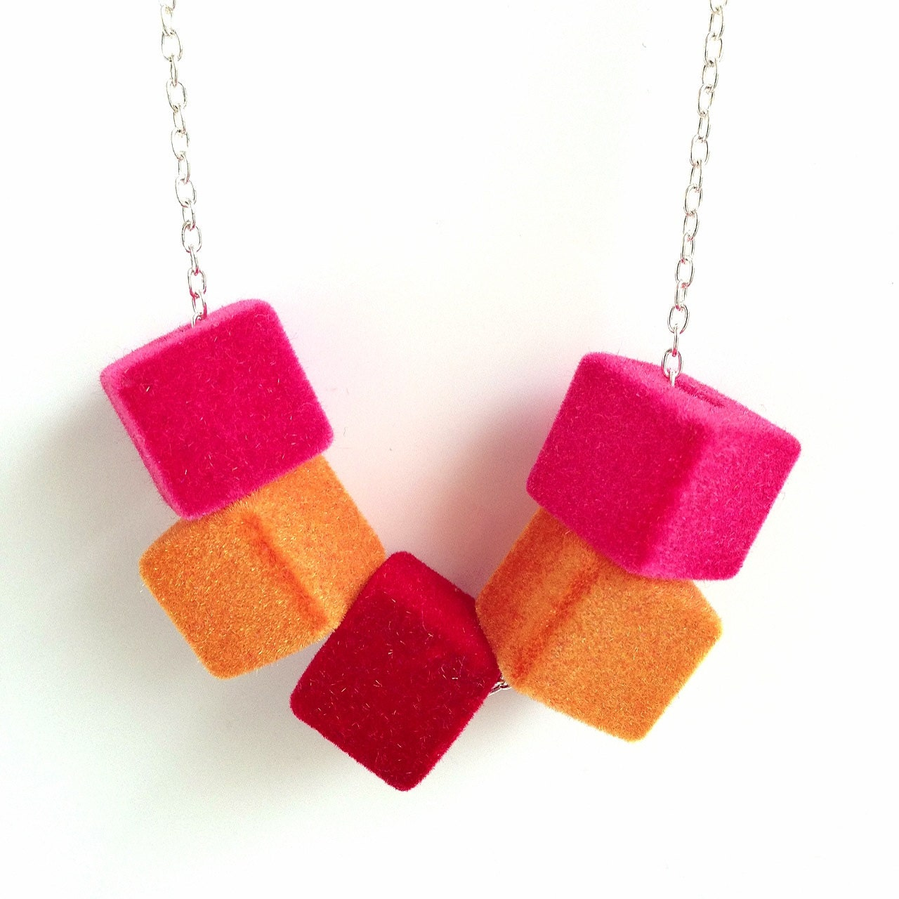 Cube Necklace - Sunset - decorateyoucraft