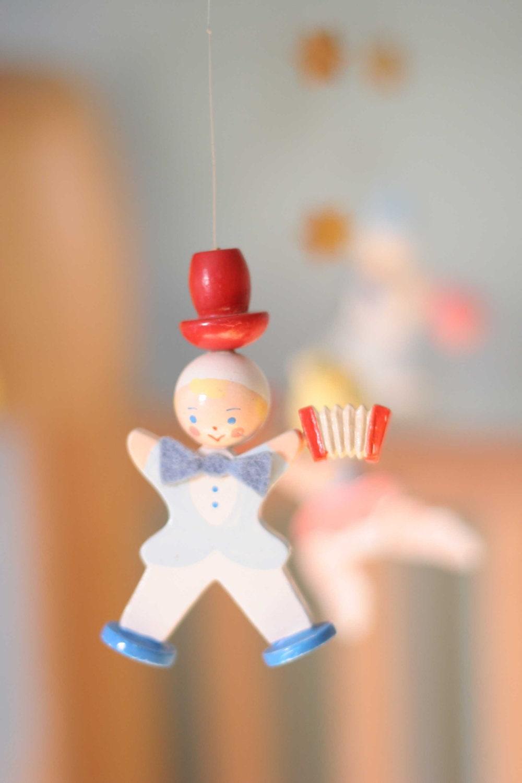 Vintage Irmi Musical Mobile Circus Nursery Decor - toadstoolvintage