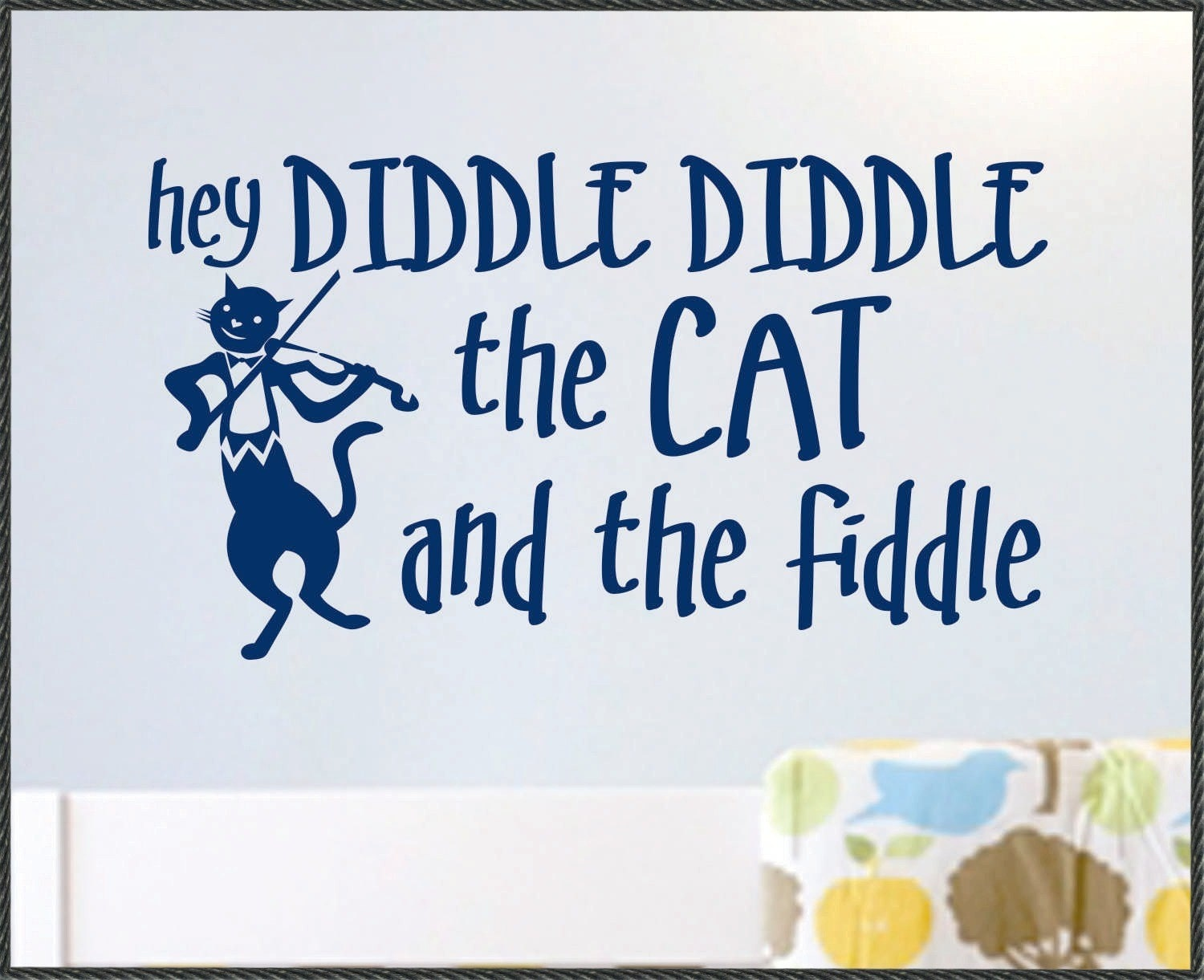 Nursery Rhyme Wall Quote Hey Diddle Diddle