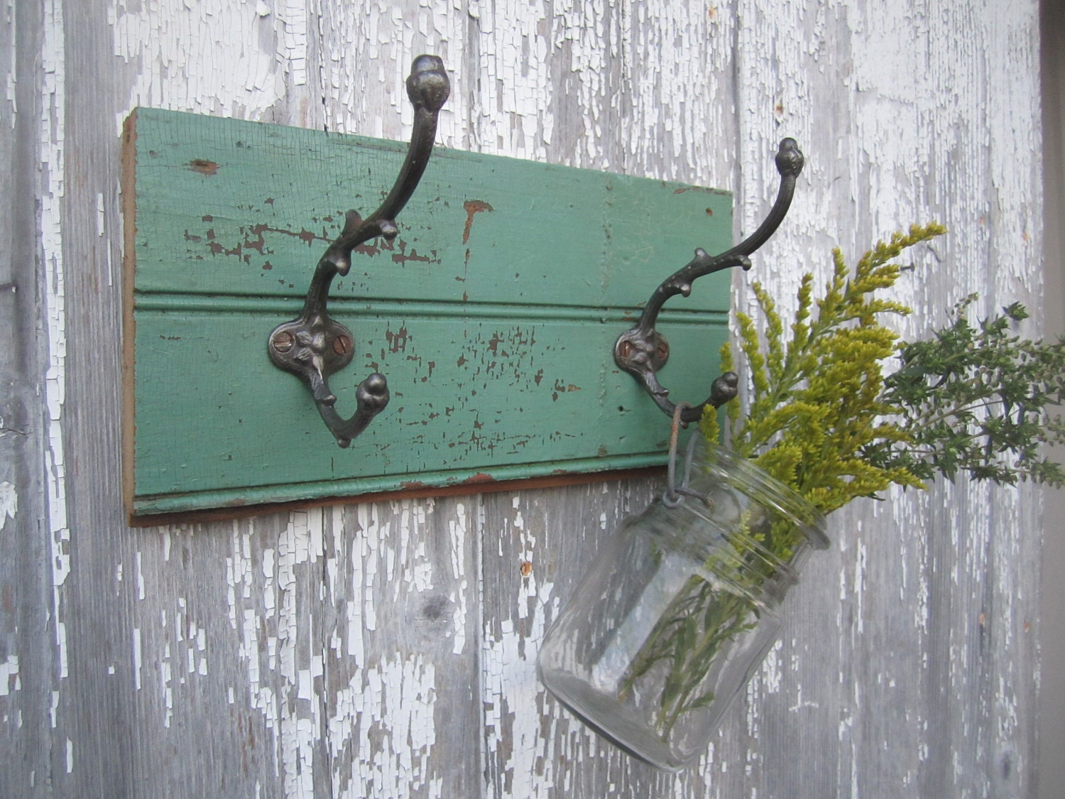 Antique Salvage Coat Rack