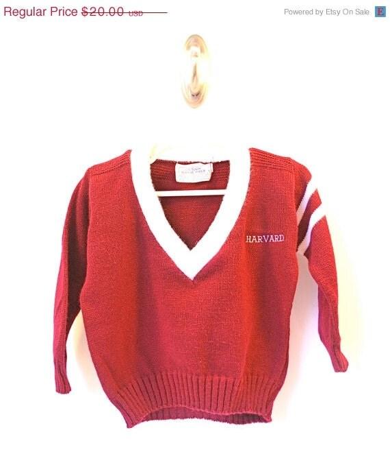 ON SALE Vintage Harvard Child's Sweater - WonderlandToys
