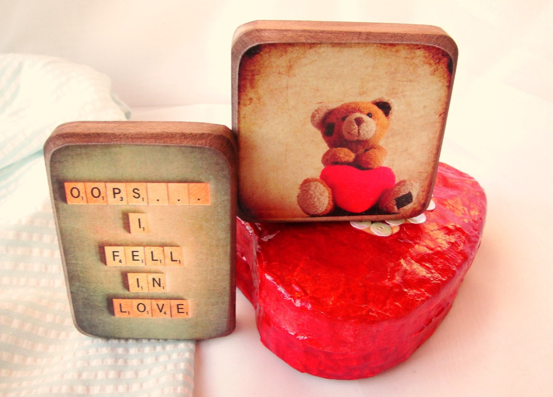 Влюбленность-магниты на холодильник Комплект из 2 - Подарок для нее Бесплатная доставка по всему миру