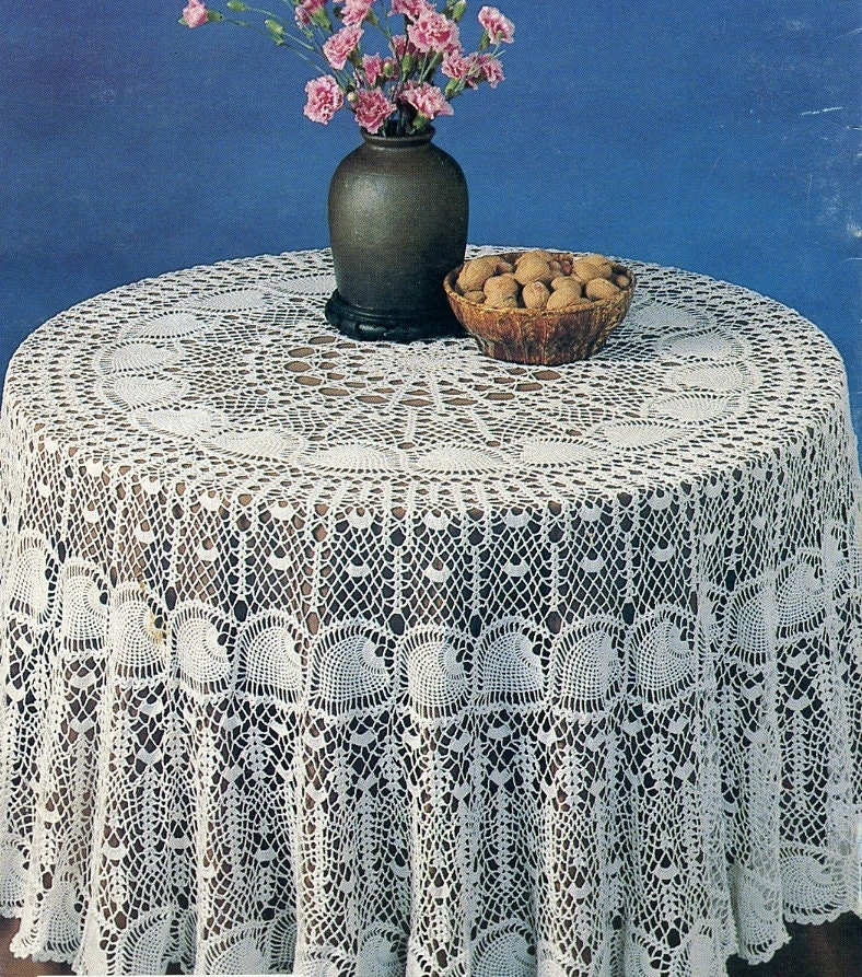 Beginner Crochet Tablecloth Patterns : Round Crochet Tablecloth Patterns Patterns Gallery