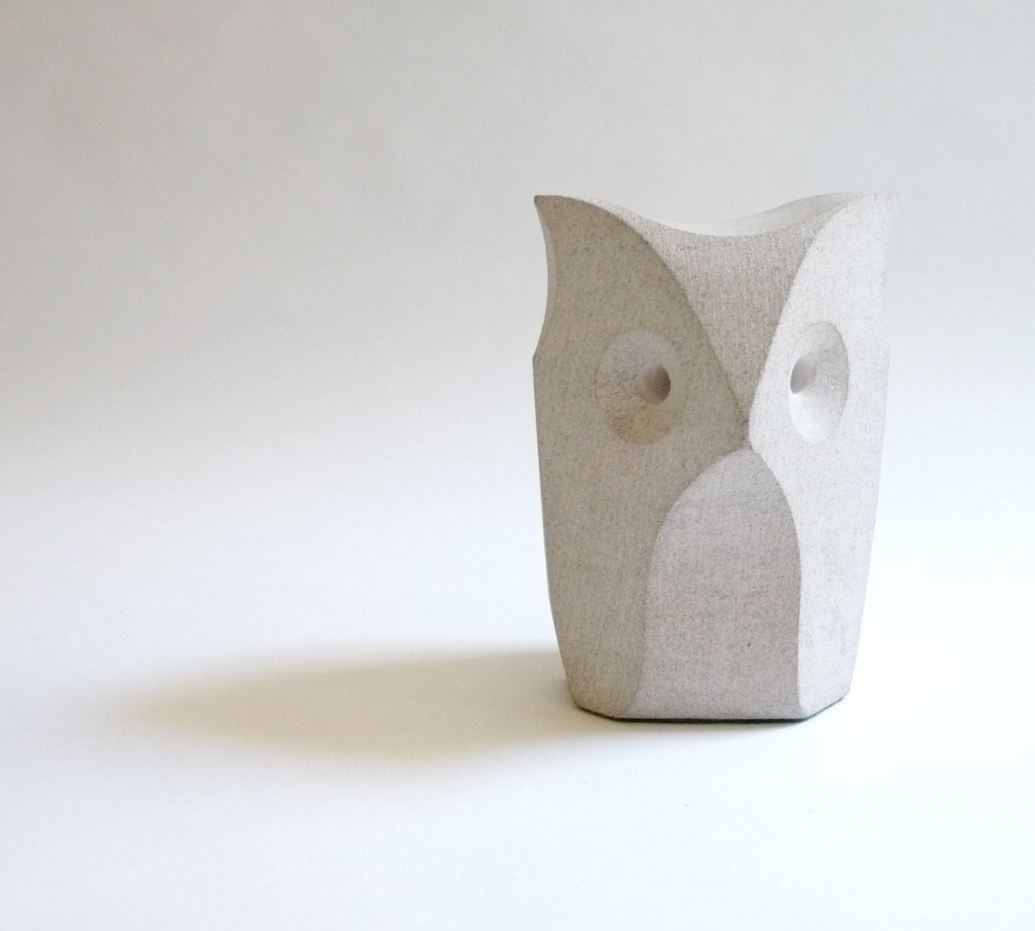 Modernist Stone Owl Sculpture - mascarajones