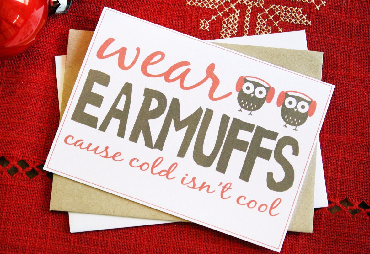 Owl Christmas Cards - Christmas Stationary - Set of 12