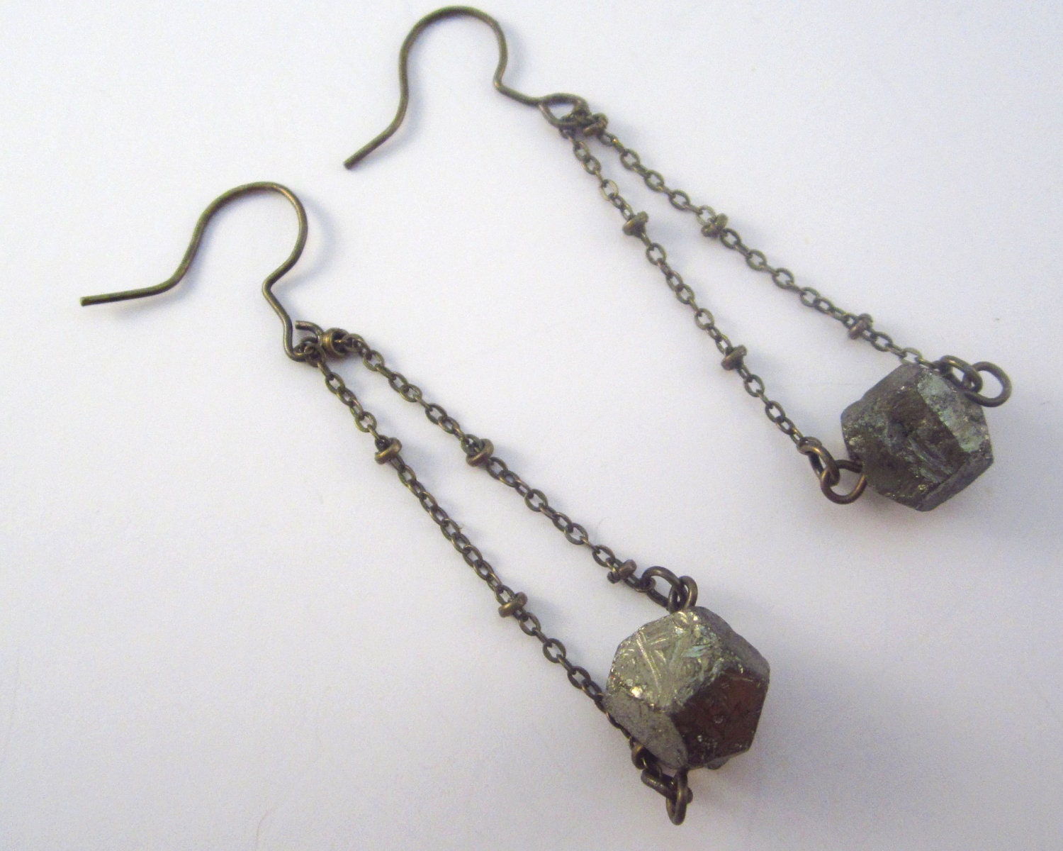 Pyrite Tiny Boulder Earrings - LaurenRoseJewlers