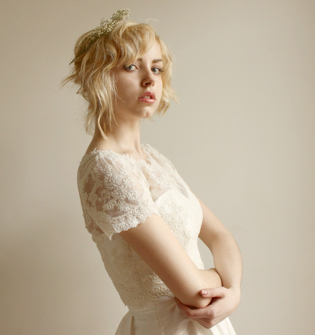 Elandra--Lace wedding top separate - Leanimal