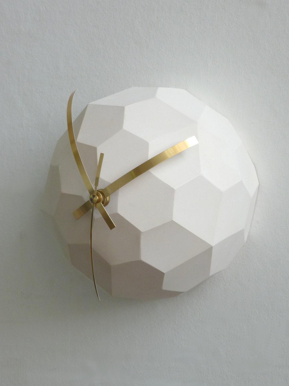 Polyhedra Globe Wall Clock