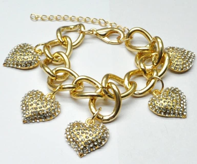 On SALE Feb 1st only: J CREW Inspired Pave Heart Bracelet