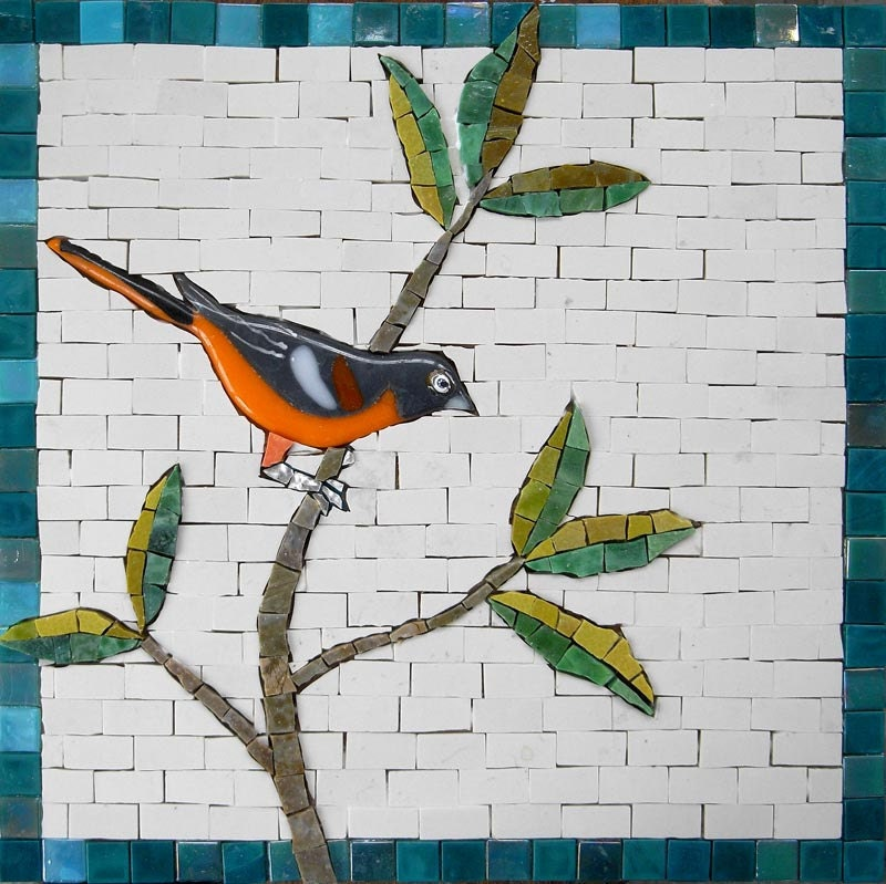 The Baltimore Oriol - The State Bird of Maryland: Greetings Card - MartinCheekMosaics